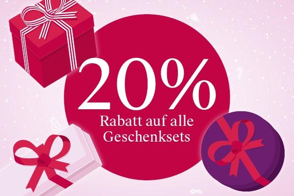 20% auf alle Geschenksets