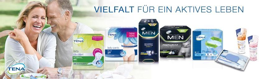 TENA bietet vielfältige Produkte und Lösungen für Harninkontinenz bei Frauen und Männern.