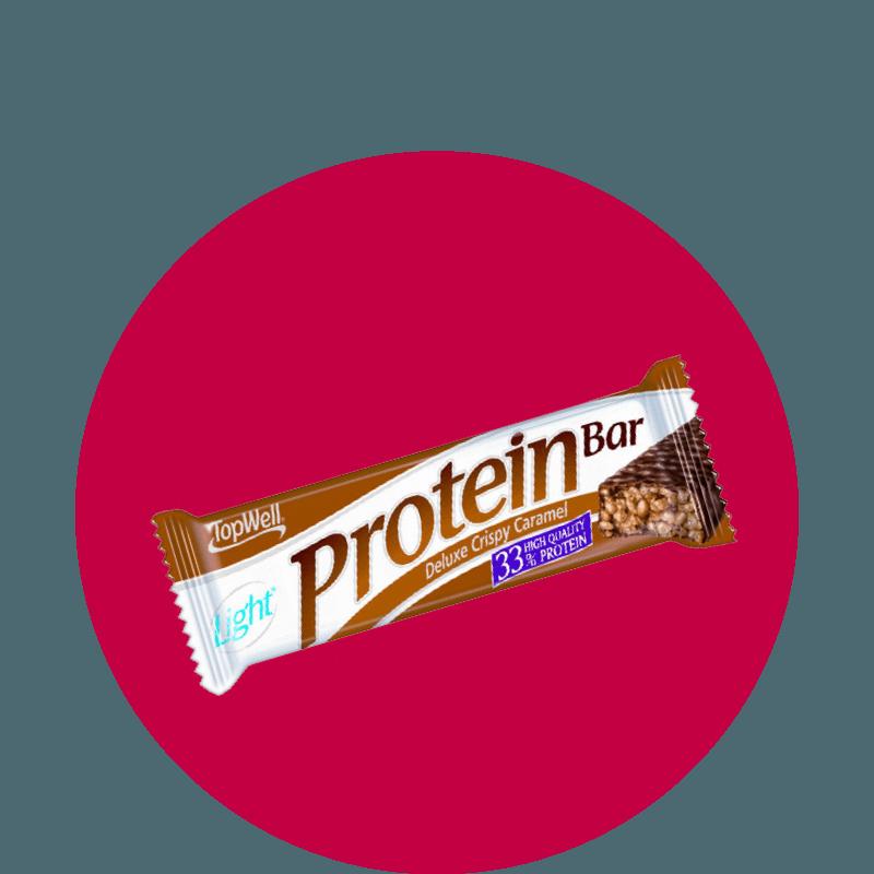 TOPWELL Protein Bar Crispy Caramel