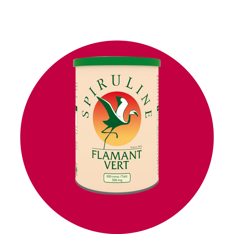 SPIRULINE Flamant grün