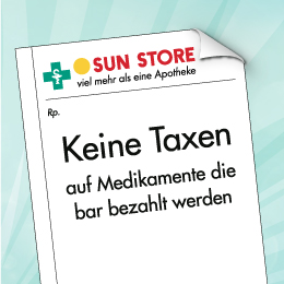 Keine Taxen, auf Medikamente die bar bezahlt werden